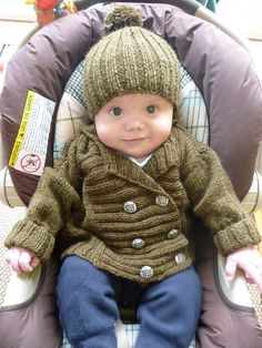 Levi would look CUTE in this getup! Ravelry: Baby Reefer Jacket and Hat (Jacket) pattern by Debbie Bliss