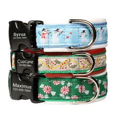 Our Custom Christmas Leather Padded Dog Collars make the perfect gift for your pooch or the dog lover in your life that's a little harder to shop for! - Price: $39.00