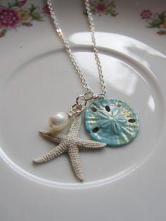 White Starfish Necklace