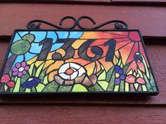 Mi numero de la casa, realizado con mosaico!