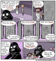 Star Wars Darth Vader Comic - Freeze Wars http://geekxgirls.com/article.php?ID=6392