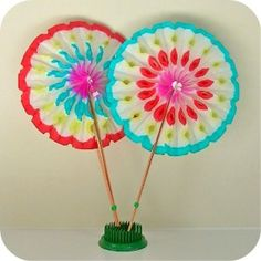 1 Vintage Japan Paper Rosette Fan by HeyYoYo on Etsy review at Kaboodle