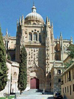 Catedral de Salamanca desde la calle del Patio Chico, Salamanca, España