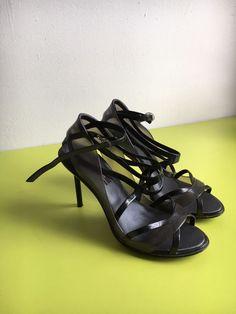 b2844fb5a1b Melissa Jean Paul Gaultier Black Smokey Jelly Vegan Buckle Heels Size 9   fashion  clothing
