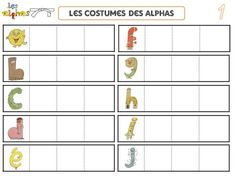 La transformation des alphas Abc Activities, Montessori Materials, Teaching French, Education, Learning, School, Costumes, Voici, Sons