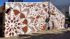 Wall by NeSpoon PL - Perth, Western Australia
