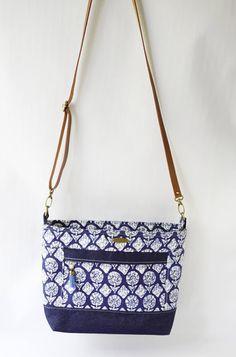 Indigo Block Print Denim Bag Printed Denim, Printed Bags, Handmade Bags, Etsy Handmade, Denim Bag, Everyday Bag, Small Wallet, Casual Bags, Blue Fabric
