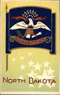 North Dakota, Original Vintage, Historical Pictures, Vintage Prints, Art Prints, The Originals, Pattern, Flags, Unique Vintage