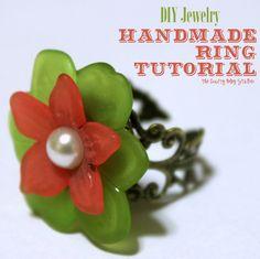 How to Make a Handmade Ring ♥ www.Thecraftyblogstalker.com DIY Jewelry
