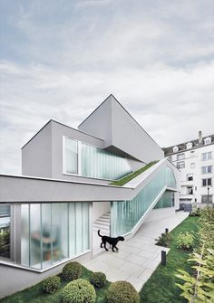 MaHouse is a minimalist residence located in Strasbourg, France, designed by MARC FORNES / THEVERYMANY