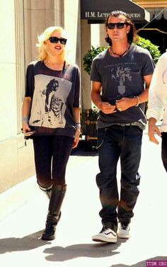 Nice Celebrity Couples, Celebrity Style, Gwen And Gavin, Gwen Stefani Style, Gavin Rossdale, Fashion Couple, Her Style, Pretty Outfits, Autumn Winter Fashion