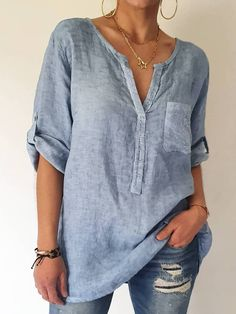S,M,L,XL,XXL,3XL Style Casual, Casual Tops, Casual Shirts, Casual Clothes, Gris Violet, Gris Rose, Shirts & Tops, Women's Tops, Dress Shirts For Women