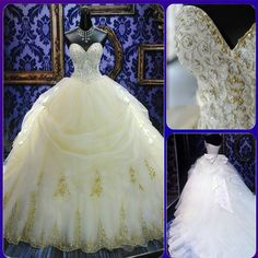 New Noble Ball Gown Fashion Elegant Modest Sweetheart Long Train White/Ivory Backless Off The Should on Luulla