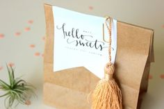 Oh So Beautiful Paper: Day-of Wedding Stationery: Favor Tags + Labels