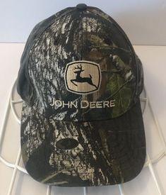 John Deere Snapback Hat Green Camo Camouflage Embroidered Logo Spellout Cap  EUC  JohnDeere Snapback Hats b79cdd23fd0f