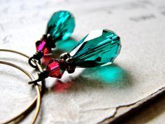 T H E S E. A R E. F L O W E R S...Teal crystal by CrowandIris, $20.00
