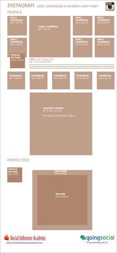 The Instagram Cheat Sheet for Image Sizing & Dimensions [Infographic] #DigitalMarketing #SocialMedia