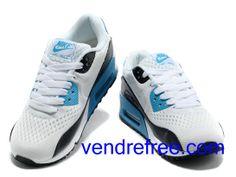 quality design 014a2 94b80 Vendre Pas Cher Homme Chaussures Nike Air Max 90 (couleur blanc,noir,bleu)  en ligne en France.