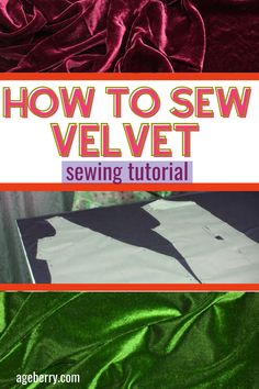 Looking for ideas on how to sew a velvet dress or skirt? Learn how to sew velvet fabric with this DIY sewing tutorial: how to determine a fabric nap, what patterns to use for sewing a velvet dress or skirt, how to cut velvet, how to press velvet, stitching techniques to use with velvet.