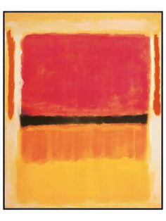 Untitled (Violet, Black, Orange, Yellow on White and Red), 1949 - Gilt Home