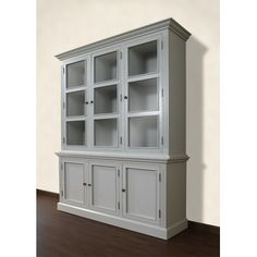 china cabinet option, cheaper than paulette server from ballard.  this is from wayfair.com-A Wood Designs French Restoration Spencer Display Cabinet