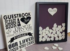 Unique Wedding Guestbook Sign and Drop in Frame by CraftyMamaGifts