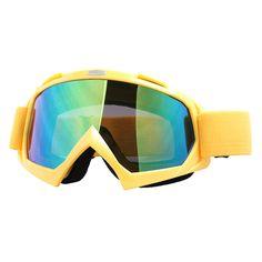 新しいスキースノーボードスノーバイクゴーグルオフロードダートバイクメガネモトクロスオフロード眼鏡カラーレンズt815-7送料無料