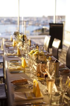 Tablescape.   Ruffled® | Modern Beachside Perth Wedding