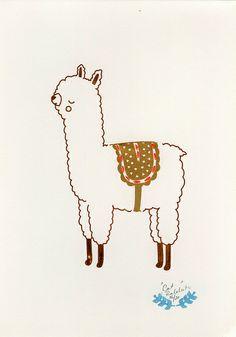 alpaca snooze gocco print | Flickr - Fotosharing!