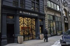 converted fire station industrial style glass doors black-ocean-old-fire-station-new-york
