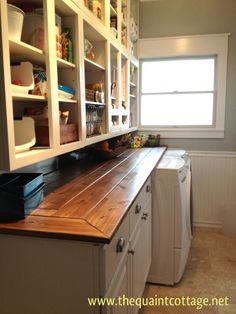 Remodeled Laundry Room/Pantry Area My laundry room was dark, cluttered and not very functional. It always looked like it was a mess. This is the roo...
