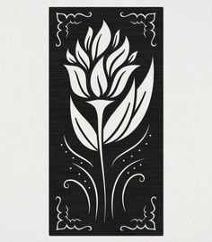 Outdoor Railing Panel Decorative Flower Free DXF file