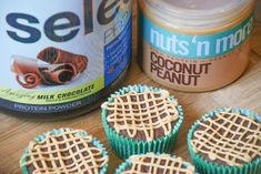 Chocolate Peanut Butter Protein Cupcakes — Peanut Butter Plus Chocolate Baking With Protein Powder, Protein Powder Recipes, Chocolate Protein Powder, Chocolate Cups, Chocolate Peanuts, Protein Recipes, Apple And Peanut Butter, Coconut Peanut Butter, Low Carb Peanut Butter