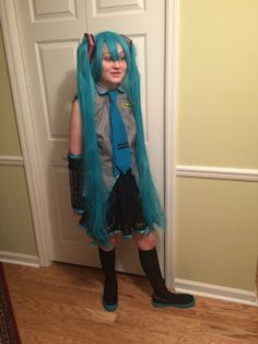 Miku Hatsune costume for neice made by me