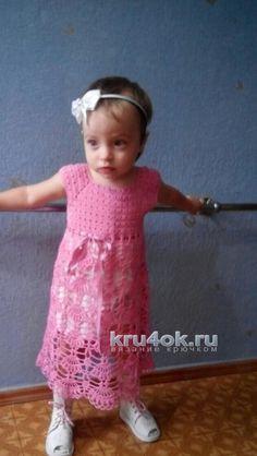 Детские платья крючком. Работы Виктории Паниной вязание и схемы вязания