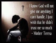 Trust me...God