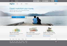 new paypal website - homepage