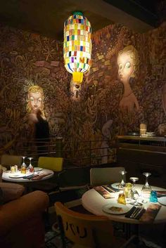 Miss Ko Restaurant , Paris designed by Philippe Starck