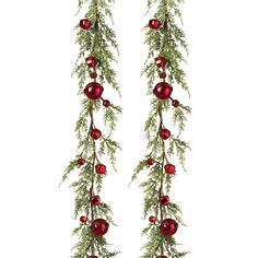 New Shabby Rustic Christmas PINE CONE JINGLE BELL Berry Swag Vine Garland 4 ft