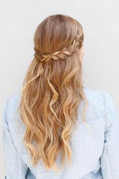 Our Best Braided Hairstyles for Long Hair Fitness Magazine hair style braids images - Hair Style Image Cute Braided Hairstyles, Dance Hairstyles, Box Braids Hairstyles, Hairstyles Haircuts, Hairstyle Braid, Hairstyle Ideas, Cute Down Hairstyles, Festival Hairstyles, Waterfall Hairstyle