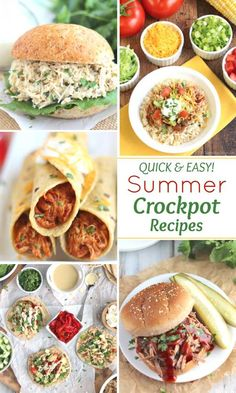 Keep your kitchen cool this summer with these delicious and EASY Summer Crockpot Recipes If you think slow cooker recipes are just for cozy winter dinners think again The. Healthy Slow Cooker, Healthy Crockpot Recipes, Easy Recipes, Fast Crockpot Meals, Healthy Summer Recipes, Crockpot Recipes For Summer, Dinner Crockpot, Slow Cooker Recipes, Easy Summer Dinners
