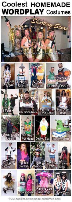 Homemade Wordplay Costume Ideas - Coolest Halloween Costume Contest #funnyhalloweencostumes