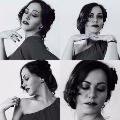 Maquillaje de los años 30. Qué linda quedo mi Modelo *****Make-up von 30 Jahre. Schön ist meine Model
