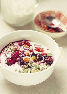 Quinoa, Acai Bowl, Breakfast, Recipes, Food, Diet, Beauty Tricks, Acai Berry Bowl, Morning Coffee