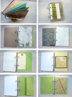 Art Journal made with loose leaf binder rings