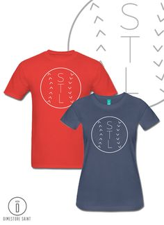 Men's and Women's St Louis Cardinals STL Shirt by DimestoreSaintDesign