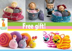 Today I am happy to announce on a new and exiting cooperation between two creative women, who Joined together in order to create the perfect gift for all knitting lovers: Buy a cool recycled yarn bowl by Recycool Art, and get an awesome gift - a beutiful amigurumi pattern by Amichy - Sweet Crochet Amigurumi Patterns !!!! https://www.etsy.com/shop/RecycoolArt?section_id=13886948&ref=shopsection_leftnav_1