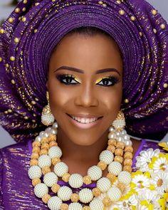 "9,517 Likes, 49 Comments - Africa's Top Wedding Website (@bellanaijaweddings) on Instagram: ""  Asooke: @ykarisfashion  Makeup: @mo_dees  Beads: @tavinbeads  #BellaNaijaWeddings"""