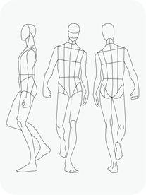 Man male body figure fashion template (D-I-Y your own Fashion Sketchbook) (Keywords: Fashion, Illust Illustration Tutorial, Fashion Illustration Template, Fashion Sketch Template, Fashion Figure Templates, Fashion Design Template, Illustration Mode, Fashion Design Sketches, Web Design, Fashion Illustration Men