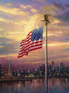 """The Light of Freedom"" - Thomas Kinkade"